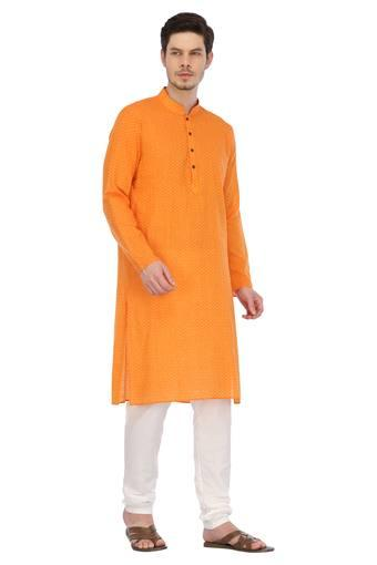 ETHNIX -  Orange Sherwani & Sets - Main