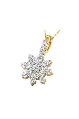 SPARKLESHis & Her Collection 9 Kt Pendants In Gold And Real Diamond 0.27 Cts HHP8737-9KT