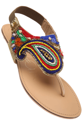CATWALK Womens Multi Flat Sandal