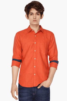 Mens Contrast-detailed Shirt