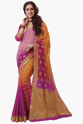ASHIKA Womens Colour Block Saree - 201461568