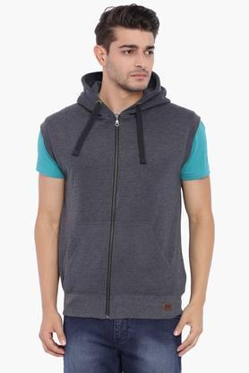 BLUE SAINTMens Black Sleeveless Sweatshirt