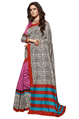 DEMARCAWomen Art Silk Saree (Buy Any Demarca Product & Get A Pair Of Matching Earrings Free) - 200875565