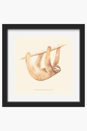 CRUDE AREA Brown CSS Animals Sloth Printed Art Print (Large)  ...