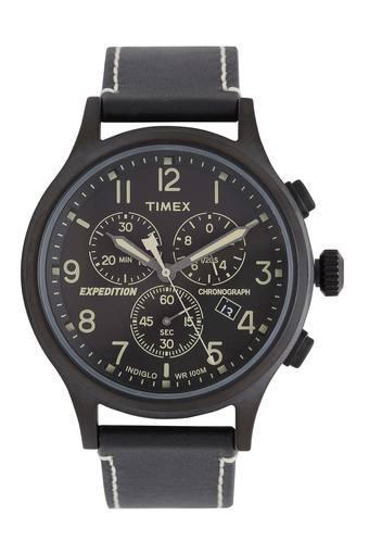 Mens Indiglo Black Dial Chronograph Watch - TWEG18203