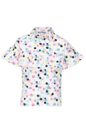 Girls Dot Pattern Shirt