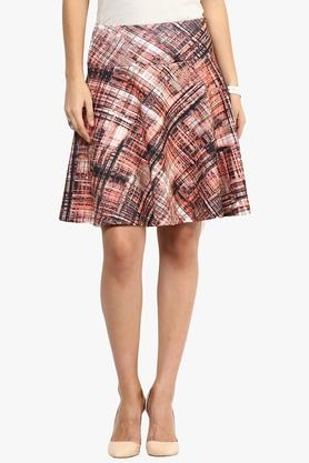 RARE Womens Pleated Printed Skirt