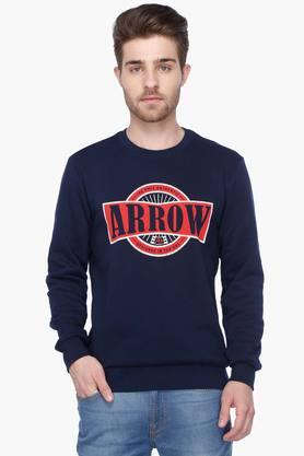 ARROW SPORTMens Full Sleeves Round Neck Printed Sweater