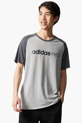 ADIDAS Mens Round Neck Colour Block T-Shirt - 202705963