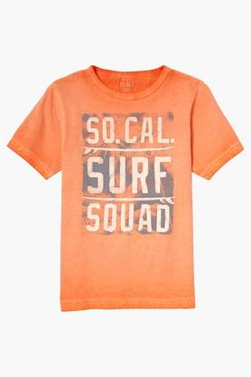 Boys Regular Fit Round Neck Printed Tee (Buy worth Rs.3,500 and above, get Rs.1000 off)