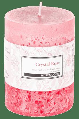 ROSEMOOREPillar Candle Crystal Rose