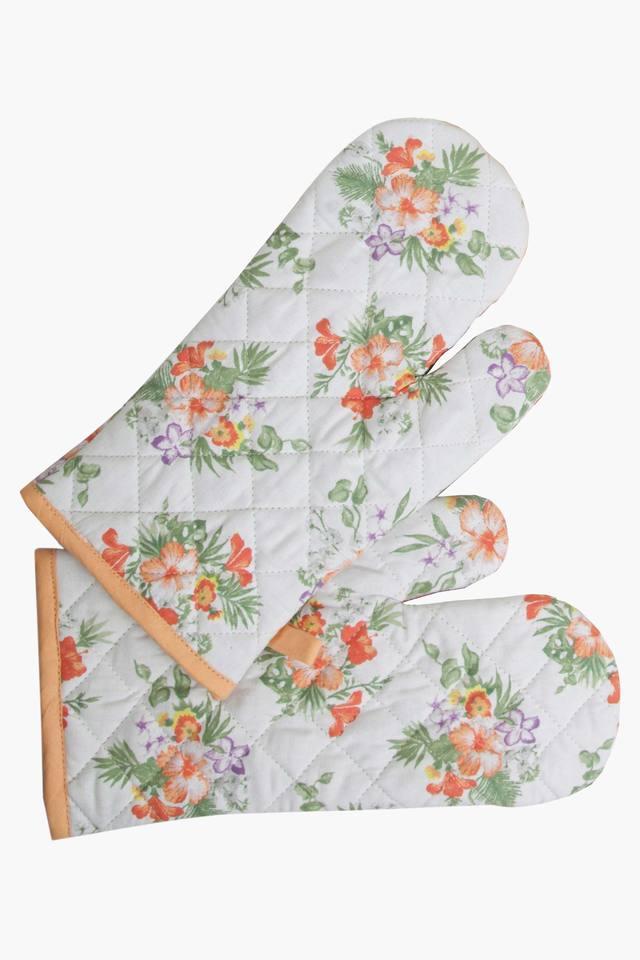 Multi Colour Printed Kitchen Linen Set (Kitchen Towel Set (4 Pcs)