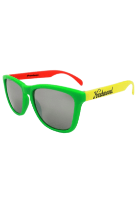 KNOCKAROUND Classic Premium Unisex Sunglasses Rasta/Smoke-PRGL1033 (Use Code FB20 To Get 20% Off On Purchase Of Rs.1800)