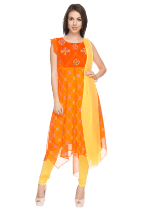 IMARA Womens Printed Churidar Set - 200732859