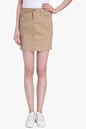 VERO MODA Womens 5 Pocket Solid Skirt