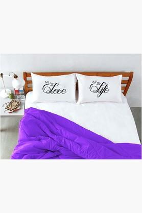 STOA PARIS White Love Life Pillow Talk Bed Linen (Bedsheet Set (King)