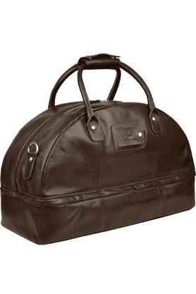 Unisex Leather Ettore Zipper Closure Duffle Bag