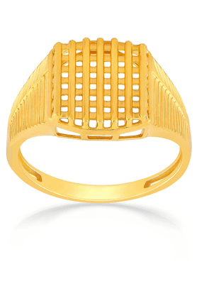 MALABAR GOLD AND DIAMONDS Mens Malabar Gold Ring - Size 22
