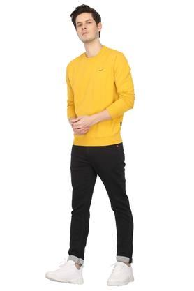 Mens Round Neck Solid Pullover