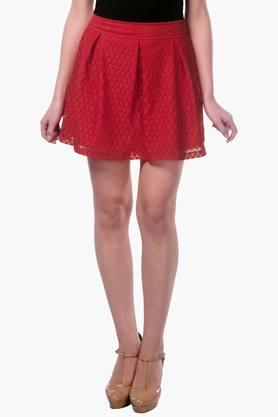 MISS CHASE Womens Lace Short Skirt - 202511985