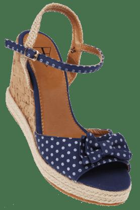 Womens Ankle Closure Upper Bow Platform Sandal