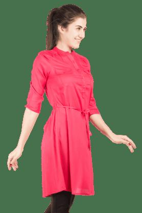 Womens Tie-waist Shirt Dress