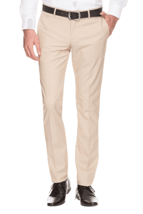 BLACKBERRYS Mens Slim Fit Solid Formal Trousers - 200889273