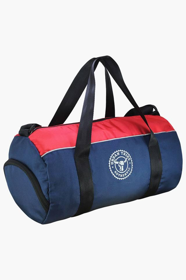 Unisex Colour Block Zipper Closure Duffle Bag