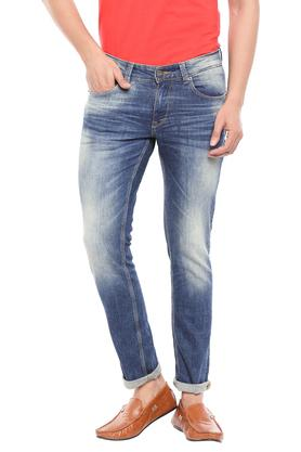 Mens Skinny Fit Heavy Wash Jeans