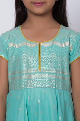 BIBA GIRLS - TurquoiseSalwar Kurta Set - 4
