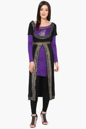 IRA SOLEILWomens Slim Fit Printed Kurta (Buy Any Ira Soleil Product And Get A Charms Bracelet Free)