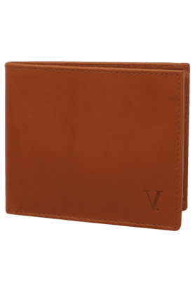VAN HEUSEN Mens Leather 1 Fold Card Holder
