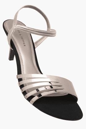 LEMON & PEPPERWomens Party Wear Slipon Heel Sandal