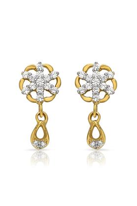 MAHIMahi Gold Plated Radiant Danglers With CZ Stones For Women ER1108688G