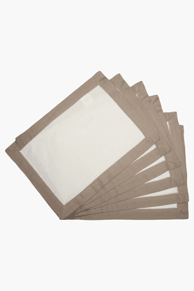 MASPAR White Border Neutral Placemat - Set Of 6