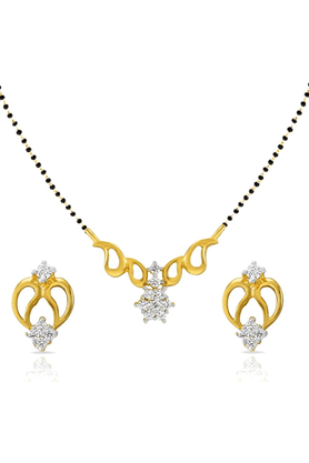 MAHIMahi Daily Wear Fashion Mangalsutra Set Of Brass Alloy With CZ For Women NL1101401G