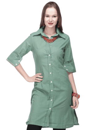 BOHEMYAN BLUE Women Cotton Kurta