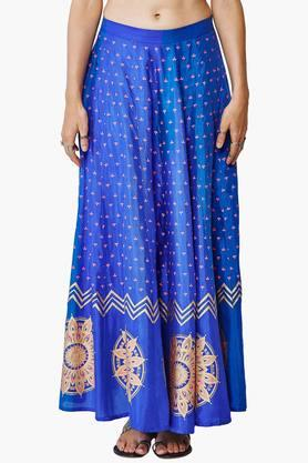 GLOBAL DESI Womens Printed Maxi Skirt