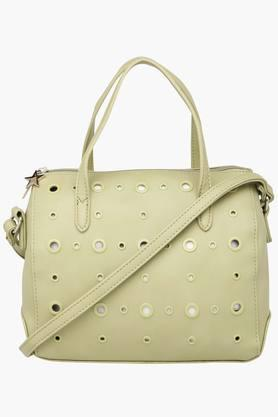 Womens Rivet Zipper Closure Sling Bag