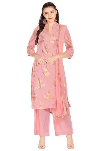 BIBA -  PeachSalwar & Churidar Suits - Main
