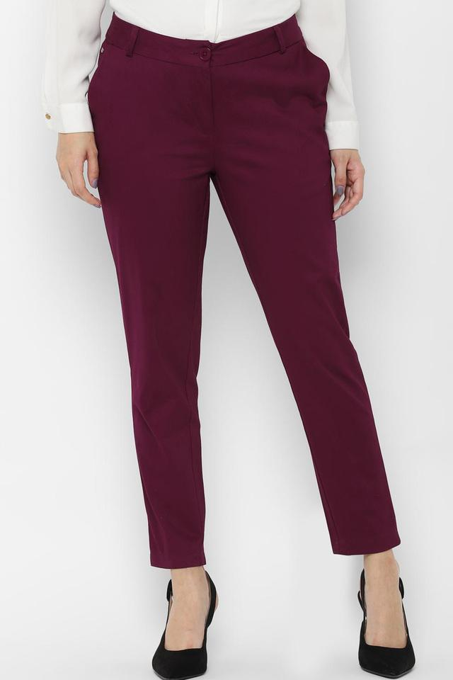 ALLEN SOLLY - Pink Trousers & Pants - Main