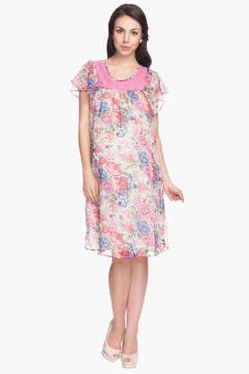 NINE MATERNITY Womens Regular Fit Printed Dress