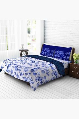 TANGERINETangy Orange Cotton Double 1 Pc Comforter - Blue - 201719980