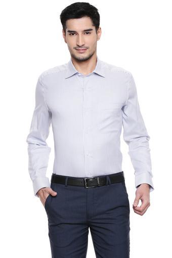LOUIS PHILIPPE -  Mid BlueFormal Shirts - Main