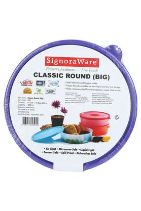 Round Solid Classic Container with Lid - 800 ml