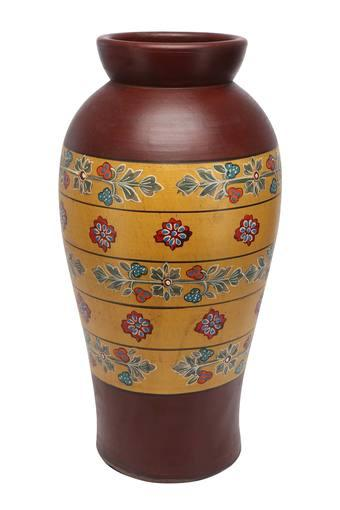 Conical Tuhin Painted Terracotta Vase