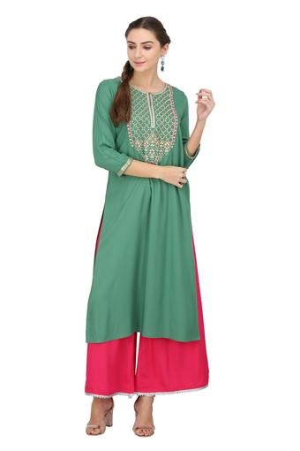 SANAA -  Green Kurtas - Main