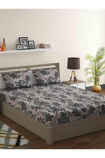 SWAYAM -  Leaf GreenDouble Bed Sheets - Main