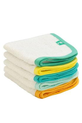 Flannel White Towelling - Pack of 5