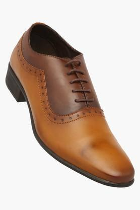 FRANCO LEONE Mens Leather Lace Up Smart Formal Shoe
